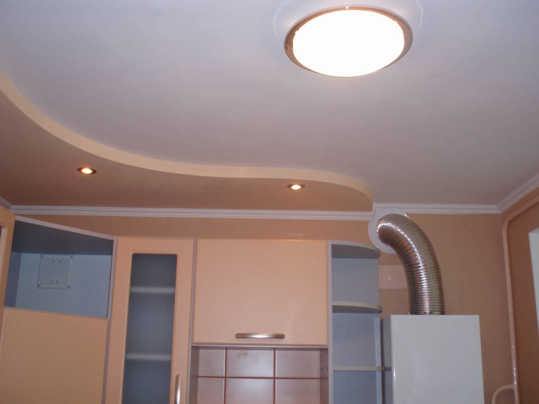 Потолки из гипсокартона фото на кухни своими руками